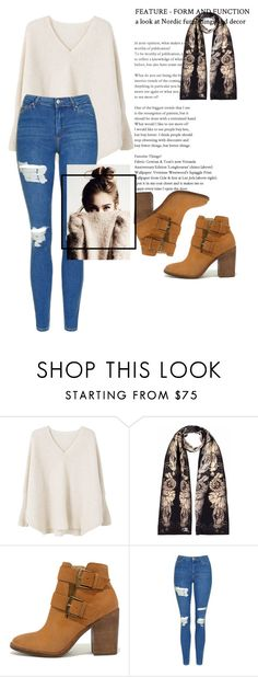 """""""Cashmere style"""" by eyzzahmaria ❤ liked on Polyvore featuring MANGO, Louise Coleman, Steve Madden and Topshop"""