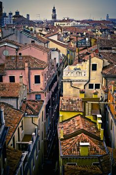 Rooftops of Venice, Italy by Neil Cherry