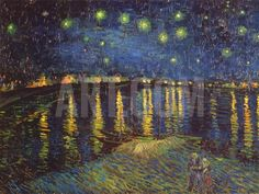 Starry Night over the Rhone, c.1888 Art Print by Vincent van Gogh at Art.com