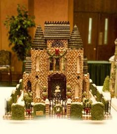 Victorian Gingerbread house, sweet, love the fence! / Gingerbread House #gingerbread  #christmas