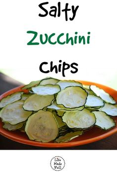 Making these salty zucchini chips is simple and a perfectly healthy snack!