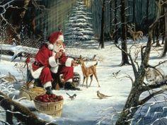 Karácsonyi képeslapküldő - Mikulás kép