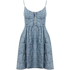 c7ccd7e644 Boohoo Demi Blue Acid Strappy Dress ( 30) ❤ liked on Polyvore featuring  dresses