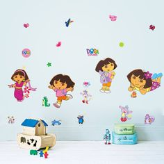 diy wall stickers kids rooms lovely dora removable art decals home wall decal sticker art mural home decor room bedroom decor diy green