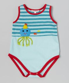 Aqua Jellyfish Sleeveless Bodysuit - Infant