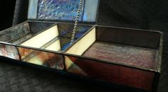 Purple and Cream Stained Glass Jewelry Box by glassisumdesigns, $140.00