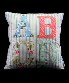 Vintage Fabric ABCD Cushion by Gisela Graham for Kids on #zulilyUK today!