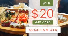 QQ sushi and kitchen. Sign up for PPM's newsletter, and you'll automatically be entered to win a $20 gift certificate to QQ Sushi and Kitchen. Visit here for Restaurant Promotional Marketing in Spokane. - Platinum Passports Marketing