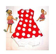 Minnie Mouse red Disney Theme Spring/Summer halter back bloomer dress set 1T-5T #Handmade #Everyday