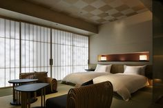 The principles of wabi-sabi guide the Japanese design aesthetic. At the best boutique hotels in Tokyo, interiors look back to look ahead. Hotel Boutique, Best Boutique Hotels, Best Hotels, Luxury Hotels, Tatami, Tokyo Hotels, Rome Hotels, Guest Room, Interior Design