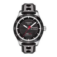 TISSOT PRS 516 Powermatic 80 Tissot PRS 516 series takes time to reflect on its 1960s motorsport-inspired origins. Wearers of the Tissot PRS models are equipped with timepieces integrating the innovations in Swiss watchmaking to complement nostalgic design elements from the racetrack. On some of these models, the movement can be seen in action through the distinctive case back shaped like the steering wheel of a pioneering sports car.