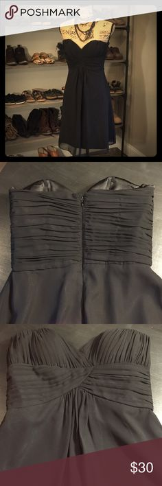 TEMP REDUCED⚡️WHBM  little black dress White House Black Market little black dress, size 0, strapless, ruched top, empire waist, fully lined- excellent condition! White House Black Market Dresses Strapless