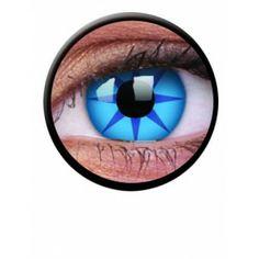 Lentile de contact colorate albastre de petrecere / halloween Crazy Blue Star - http://lensa.ro/lentile-contact-colorate/crazy/crazy-blue-star