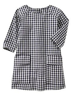 Gingham pocket shift dress | Gap