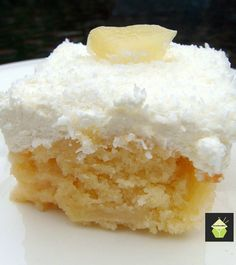 Pineapple Coconut Cake - This is a pure delight to eat! #weightlossmotivation