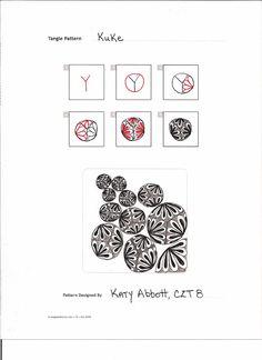 Tangle Pattern: 'Kuke' by Katy Abbott, CZT 8