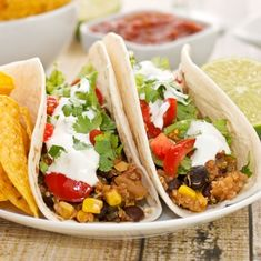 Quinoa tacos--use quinoa instead of meat. I bet these are tasty! And cheap. My favorite combo :)