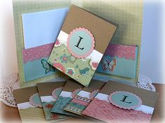 Note Card Set *Momenta* - Scrapbook.com - How great would this be to make or receive as a gift. #scrapbooking #cardmaking #bazzillbasics #marvyuchida