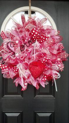 Hearts:  #Valentine wreath.