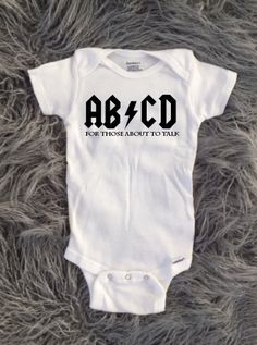 Punk Rock Baby, Punk Rock Toddler, acdc baby, abcd baby, rocker baby, rock and…