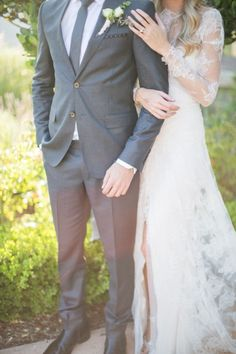 You must see this amazingly gorgeous, rustic french wedding inspiration shoot from the top wedding vendors in Southern California. Wedding Poses, Wedding Attire, Wedding Dresses, Gray Wedding Suits, Rustic Wedding Groom, Wedding Tuxedos, Wedding Ideas, Groom And Groomsmen, Bride Groom