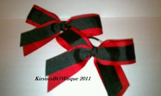 Cheer bows in our school colors
