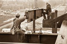 Iconic image of iron workers at The Palladium - Carmel, IN  www.douglasadamsphotography.com