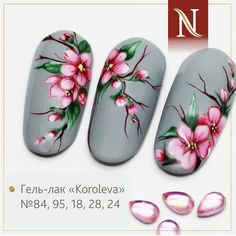 Best Floral Nail Art Design Ideas To Be Inspire Your Mode - Nails have become important fashion accessories for women in the present day world. From the traditional designs to the present day modern art work, n. Spring Nails, Summer Nails, Hair And Nails, My Nails, Nail Art Designs Videos, Flower Nail Designs, Floral Nail Art, Design Floral, Luxury Nails