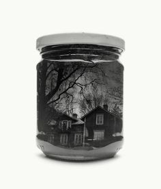 Bottled Finnish landscapes captured with double-exposure photography by Christoffer Relander. No Photoshop used.