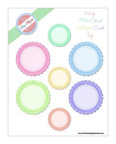 Free Digital and Printable Scalloped Tags…Junkin Joe Reminder and Answers to Who am I!