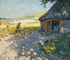 Helen McNicoll, Midsummer, c. 1909, oil on canvas, 61.8 x 72.2 cm, Art Gallery of Nova Scotia, Halifax. #ArtCanInstitute #CanadianArt
