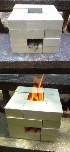How To Build A 16 Brick Rocket Stove For $6 | Health & Natural Living