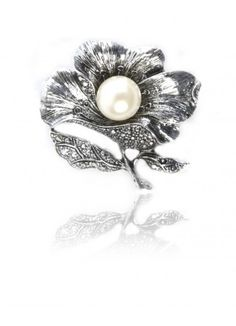 Get Flower Power Crystal Encrusted Broach Online