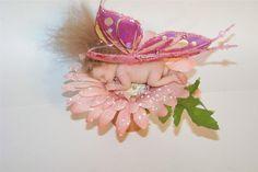 plorym clay baby in flower pot  | OOAK Polymer Clay Baby Pink Daisy Fairy Girl in Flower Pot Fantasy ...