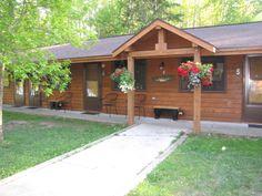 12 unit motel suites at Lake Owen Resort, Cable, Wisconsin. lakeowenresort@cheqnet.net