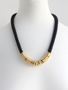 Black Brass Loops Necklace BY NOPHAR HAIMOVITZ