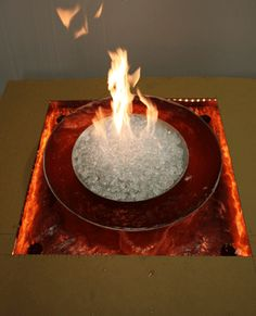 Fire and ice bowls/ water features.  Coolest things ever!