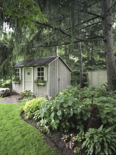 Gardening Landscape with Gardening Shed