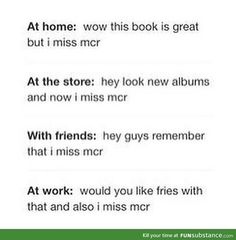 This post is great and all but I still miss MCR