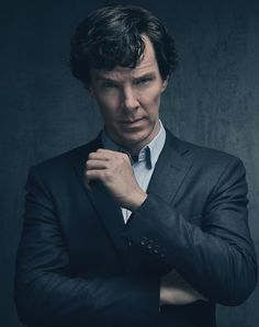 SHERLOCK (BBC) ~ S4 promo photo of Benedict Cumberbatch as Sherlock Holmes.