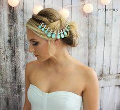 Fascia da sposa copricapo d'oro gioielli da sposa di HairFloaters