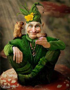 Fantasy of a leprechaun - used Woodland Creatures, Magical Creatures, Fairy Land, Fairy Tales, Fantasy World, Fantasy Art, Dragons, Kobold, Legendary Creature
