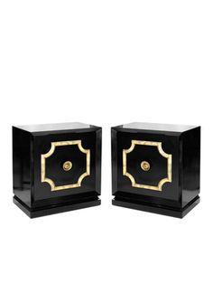Gabriella Sarlo - Pair of Black Lacquered Cabinets