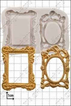 Silicone mould (mold) - 'Picture Frames' by FPC Sugarcraft