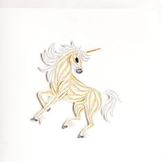 Unicorn - quilling card