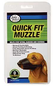 Four Paws Products Quick Fit Muzzle Size 0 - 59000 ** Additional details at the pin image, click it  : Dog muzzle