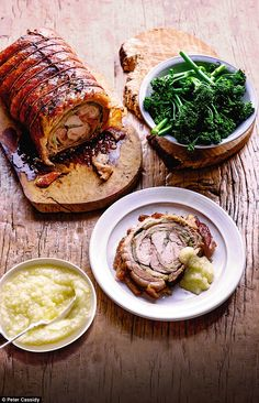 I love porchetta - a deboned pork roast that's a staple in Italy...