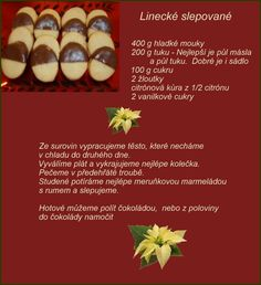 Linecké slepované Christmas Candy, Christmas Baking, Christmas Cookies, Czech Recipes, Oreo, Food And Drink, Sweets, Cakes, Cookies
