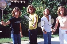 The fabulous Gibb brothers. Can we just take a moment to appreciate Andy's shirt?