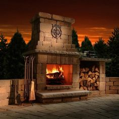 Outdoor fireplace. Check out www.islandlivingandpatio.com for ALL outdoor_living furniture and accessories!